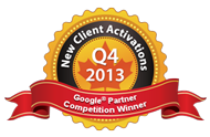 Google Partners Competition Winner 2013 Q4 Most new activations