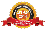Google Partners Competition Winner 2014 Q1-Q4 Most new activations