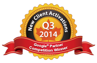 Google Partners Competition Winner 2014 Q3 Most new activations