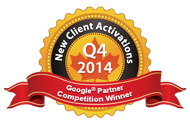 Google Partners Competition Winner 2014 Q4 Most new activations